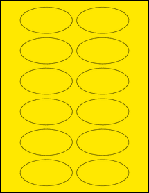 """Sheet of 3"""" x 1.5"""" Oval True Yellow labels"""