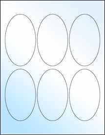 "Sheet of 2.5"" x 4.25"" Oval White Gloss Inkjet labels"