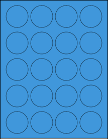 "Sheet of 1.75"" Circle True Blue labels"