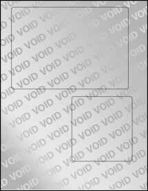 """Sheet of 6.78"""" x 4.75"""" Void Silver Polyester labels"""