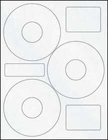 "Sheet of 4.52"" CD Clear Matte Inkjet labels"