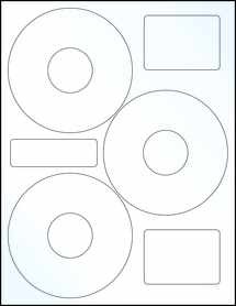 "Sheet of 4.52"" CD  Clear Gloss Laser labels"