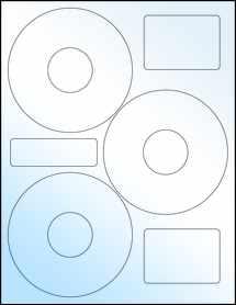 """Sheet of 4.52"""" CD White Gloss Laser labels"""