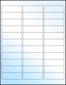 """Sheet of 2.625"""" x 0.875"""" White Gloss Inkjet labels"""