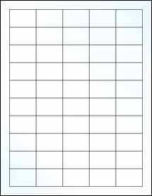 """Sheet of 1.5"""" x 1"""" Clear Gloss Laser labels"""