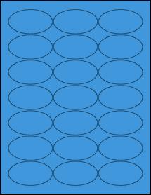 """Sheet of 2.5"""" x 1.38"""" Oval True Blue labels"""