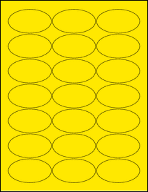 """Sheet of 2.5"""" x 1.38"""" Oval True Yellow labels"""