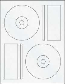 "Sheet of 4.6406"" CD  Clear Matte Inkjet labels"