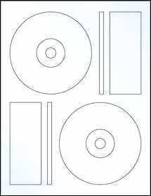 "Sheet of 4.6406"" CD Clear Gloss Inkjet labels"