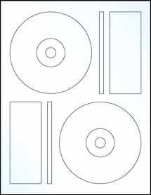 "Sheet of 4.6406"" CD Clear Gloss Laser labels"