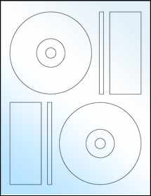 "Sheet of 4.6406"" CD White Gloss Laser labels"