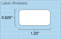 """Roll of 1.25"""" x 0.625""""  Thermal  labels"""