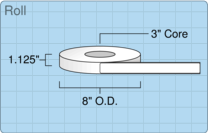 """Roll of 1"""" x 9.875""""  Thermal  labels"""