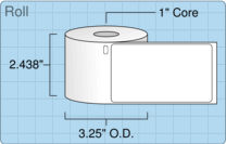 "Roll of 2.31"" x 4""  Thermal  labels"