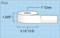 "Roll of 0.75"" x 2""  Thermal  labels"