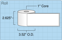 """Roll of 2.5"""" x 6.5""""  Thermal  labels"""