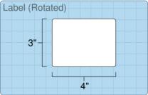 """Roll of 4"""" x 3""""  Inkjet  labels"""