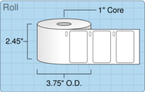 "Roll of 2.25"" x 1.25""  Thermal  labels"