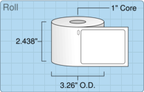 """Roll of 2.12"""" x 2.75""""  Thermal  labels"""