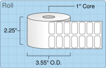 "Roll of 1"" x 0.5""  Thermal  labels"