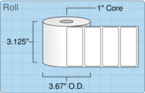 """Roll of 3"""" x 1.25""""  Thermal  labels"""