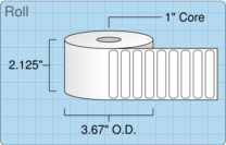 """Roll of 2"""" x 0.375""""  Thermal  labels"""