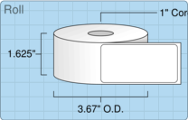 "Roll of 1.5"" x 3""  Thermal  labels"