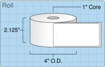"Roll of 2"" x 4""  Thermal  labels"