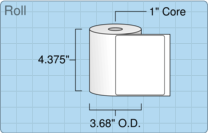 """Roll of 4.25"""" x 3.5""""  Thermal  labels"""