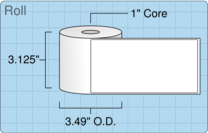 """Roll of 3"""" x 6""""  Thermal  labels"""