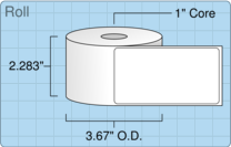 """Roll of 2.158"""" x 4.0158""""  Thermal  labels"""
