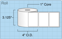 """Roll of 3"""" x 2""""  Thermal  labels"""