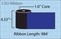 """Roll of 4.33"""" x 984' ribbon"""
