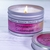 """4"""" x 1.33"""" clear label with a frosted finish, used to label tin candle jar"""