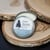 """White matte round label (3"""") on aluminum candle tin lid"""