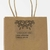 "2"" x 2"" square label on clear gloss inkjet used on brown kraft shopping bag"