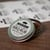 """2.5"""" clear matte BBQ rub product label on small round tin lid"""