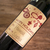 """4"""" x 3"""" brown kraft label used to create personalized Christmas/holiday wine bottle label"""