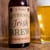 "4"" x 3"" brown kraft beer bottle label for St. Patrick's Day"