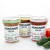 "Homemade salsa Mason jar labels printed on 4"" x 3"" white matte labels"