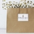 """3.5"""" x 5"""" rectangle on aggressive white matte, applied to brown kraft shopping bag"""