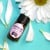 """0.75"""" round weatherproof polyester label on essential oil bottle"""