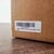 "2.62"" x 1"" white matte Amazon FBA FNSKU label on cardboard box"