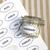 "3"" x 1.5"" oval label on standard white matte used on glass spice jar"