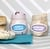 """3"""" x 1.5"""" oval labels on standard white matte used to label glass jars of flavored cream cheese"""