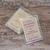 """3"""" x 2"""" brown kraft labels for branding wax melt clamshells"""