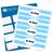 Oh Baby Water Bottle Labels (Blue) - Full Label Sheet