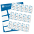 Oh Baby Mini Candy Bar Labels (Blue) - Full Label Sheet