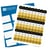 Happy 50th Birthday Kiss Candy Labels (Black, Gold) - Full Label Sheet