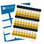 Happy 60th Birthday Kiss Candy Labels (Black, Gold) - Full Label Sheet